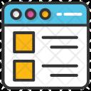 Website Layout Designing Icon