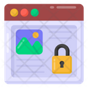 Protected Website Private Web Website Lock Icon