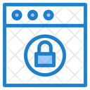 Website Lock Website Security Web Protection Icon