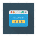 Website Login Password Unlock Icon