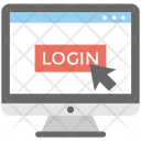 Login Screen Web Icon