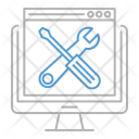 Website Optimization Maintenance Icon