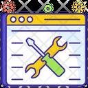 Website Maintenance Web Setting Web Configuration Icon