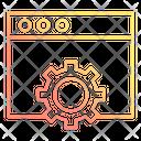 Website Maintenance Gear Icon