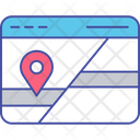 Website Map Web Map Web Location Icon