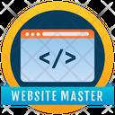 Website Master Badge Website Emblem Reward Icon