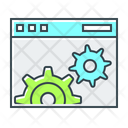 Website Optimization Website Configuration Development Icon