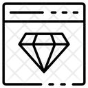 Web Page Diamond Crystal Icon