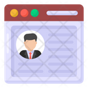Website Profile Web User Website User Icon