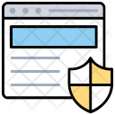 Website Protection Internet Icon