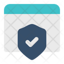 Website Protection Browser Window Icon