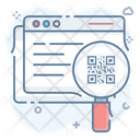 Website Qr Code Online Qr Code Web Analysis Icon