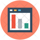 Website Graph Statistical Chart Digital Marketing Icon