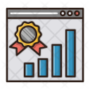 Website Ranking Growth Icon