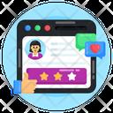 Web Ranking Website Ratings Customer Ratings Icon