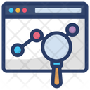Website Search Web Analysis Business Website Icon