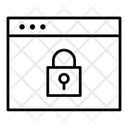 Website Security Webpage Locked Icon