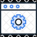 Website Settings Web Configuration Cog Icon