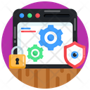 Web Configurations Website Settings Cybersecurity Icon