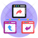 Website Shared Network Icon