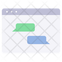 Website social media chat Icon