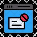 Website Spam Icon