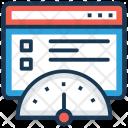 Website Speed Tracker Icon