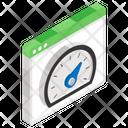 Website Speed Test Speedometer Dashboard Icon