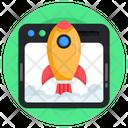 Web Launch Web Beginning Website Startup Icon