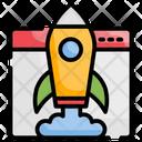 Website Startup New Website Rocket Launch Icon