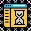 Hourglass Window Internet Icon