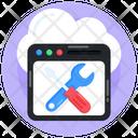 Web Settings Web Maintenance Website Tools Icon