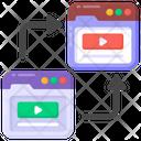 Data Transfer Website Transfer Site Transfer Icon
