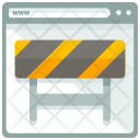 Under Construction Road Barrier Icon