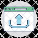Website Upload Launch Icon