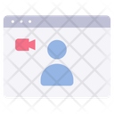 Website Video Call Icon