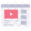 Website Video Streaming Icon