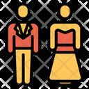 Wedding Couple Bride Groom Icon