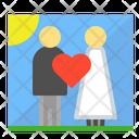 Wedding Couple Lovers Icon