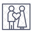 Wedding Couple Lovers Icon