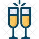 Wedding Champagne Drink Icon