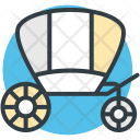 Wedding Carriage Cart Icon