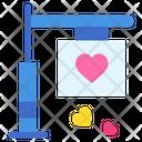 Wedding Board Sign Board Love Icon