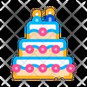Celebration Wedding Cake Icon