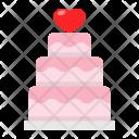 Stacked Cake Wedding Icon