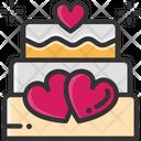 M Wedding Cake Wedding Cake Valentine Cake Icon