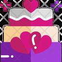 M Wedding Cake Icon