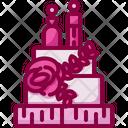 Wedding Cake Marriage Cake Pop Icon