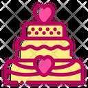Wedding Cake Dessert Marriage Icon