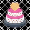 Cake Wedding Love Icon